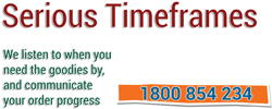 We take your event timeframes seriously